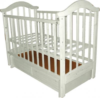 Детская кроватка РИО Виктория-2 м (Белая) - общий вид