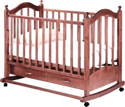 Детская кроватка РИО Джулия (орех) - общий вид
