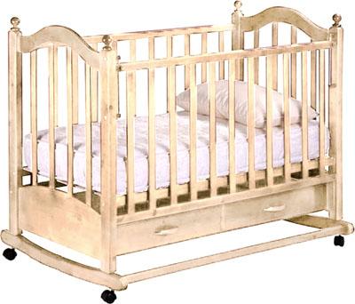 Детская кроватка РИО Джулия (Слоновая кость) - общий вид