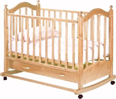 Детская кроватка РИО Джулия (Натуральный цвет) - общий вид