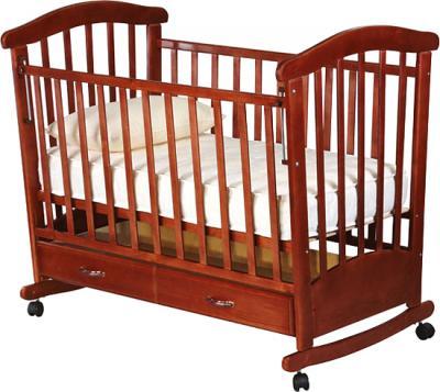 Детская кроватка РИО Мишка (Вишня) - общий вид