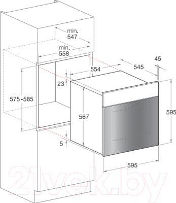 Электрический духовой шкаф Hotpoint FT850.1 (OW)/HA S