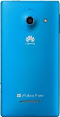 Смартфон Huawei Ascend W1 Blue - вид сзади