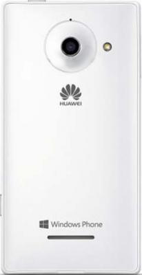 Смартфон Huawei Ascend W1 White - вид сзади