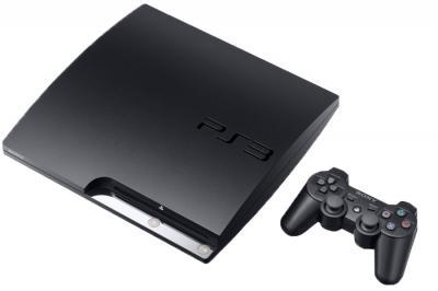 Игровая приставка Sony Playstation 3 160 GB 3008/Base Black - общий вид с геймпадом