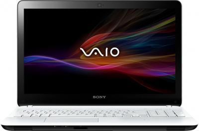 Ноутбук Sony VAIO SVF1521L1R/W - фронтальный вид