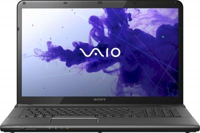 Ноутбук Sony VAIO SVE1713Y1R/B - фронтальный вид