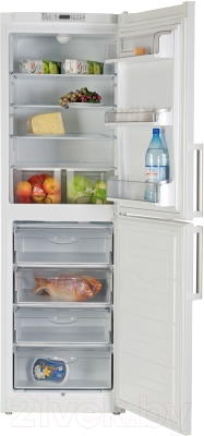 Холодильник с морозильником ATLANT ХМ 6323-100 - с продуктами