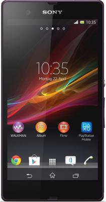 Смартфон Sony Xperia Z (C6603) Purple - вид спереди