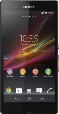 Смартфон Sony Xperia Z (C6603) Black - вид спереди