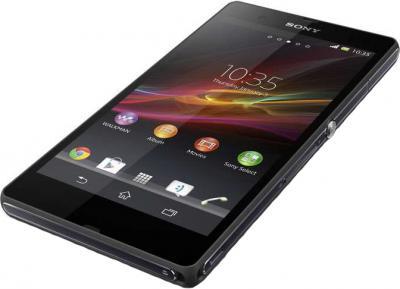 Смартфон Sony Xperia Z (C6603) Black - вид лежа