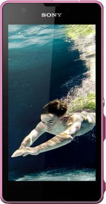 Смартфон Sony Xperia ZR (C5503) Pink - общий вид