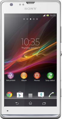 Смартфон Sony Xperia SP (C5303) White - вид спереди