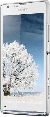 Смартфон Sony Xperia SP (C5303) White - вполоборота спереди