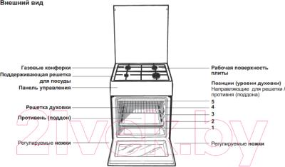 Кухонная плита Indesit KNJ1G2(W)