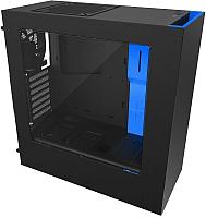 Корпус для компьютера NZXT S340 (CA-S340MB-GB) (черный/синий) -