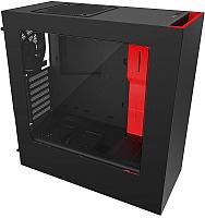 Корпус для компьютера NZXT S340 (CA-S340MB-GR) (черный/красный) -