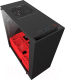 Корпус для компьютера NZXT S340 Elite Matte (CA-S340W-B4) (черный/красный) -