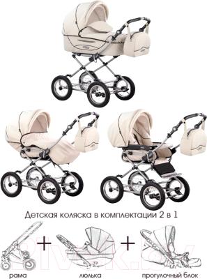 Детская универсальная коляска Roan Kortina (K24) - Демонстрационное фото (коляска Roan Kortina в кремовом цвете)