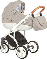 Детская универсальная коляска Roan Bass Soft 3 в 1 (Sand/Cognac) -