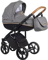Детская универсальная коляска Roan Bass Soft 3 в 1 (Black/Cognac) -