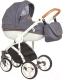 Детская универсальная коляска Roan Bass Soft 3 в 1 (Blue/Cognac) -