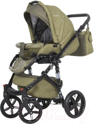 Детская универсальная коляска Riko Brano Natural 2 в 1 (04/olive)