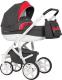 Детская универсальная коляска Riko Vanguard 2 в 1 (01/scarlet) -