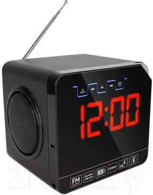 Радиочасы TeXet TRC-314 (черный)