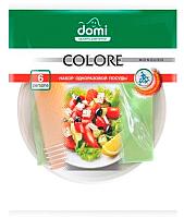 Набор одноразовой посуды Domi На 6 персон (салатовый) -