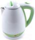 Электрочайник Endever KR-241S (белый/зеленый) -