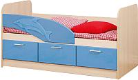 Односпальная кровать Олмеко Дельфин 06.222 (голубой) -