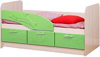 Односпальная кровать Олмеко Дельфин 06.222 (эвкалипт) -
