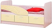 Односпальная кровать Олмеко Дельфин 06.223 (ваниль) -