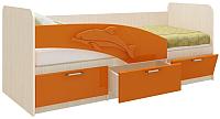 Односпальная кровать Олмеко Дельфин 06.223 (оранжевый) -
