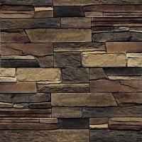 Декоративный камень Royal Legend Кармиель коричнево-черно-бежевый 23-689 (337x95x5-18) -