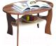 Журнальный столик Олмеко Маджеста-4 (ясень шимо т./ясень шимо св.) -