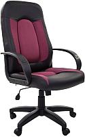 Кресло офисное Chairman 429 (бордовая вставка) -