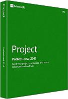 Специализированное ПО Microsoft Project Professional 2016 Windows (H30-05445) -