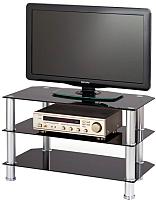 Стойка для ТВ/аппаратуры Halmar RTV-21 (черное стекло) -
