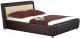 Двуспальная кровать Halmar Samanta P (коричнево-бежевый) -