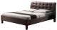 Двуспальная кровать Halmar Samara (темно-коричневый) -