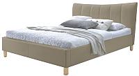 Двуспальная кровать Halmar Sandy (бежевый) -