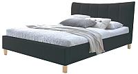 Двуспальная кровать Halmar Sandy (черный) -
