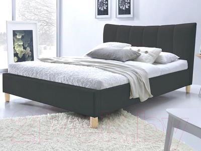 Двуспальная кровать Halmar Sandy (черный)