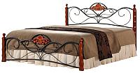 Двуспальная кровать Halmar Valentina (античная черешня) -