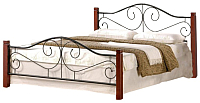 Двуспальная кровать Halmar Violetta 160x200 (античная черешня) -