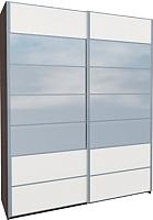 Шкаф Мебель-Неман Николь МН-020-02С (белый глянец) -
