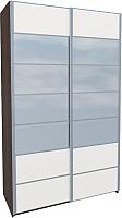 Шкаф Мебель-Неман Николь МН-020-01С (белый глянец) -