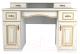 Письменный стол Мебель-Неман Роза МН-306-07П (белый полуглянец/золотая патина) -